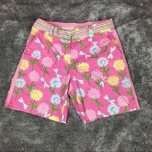 Lilly pulitzer dragonfly and daisy Bermuda shorts